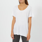 T by Alexander Wang Women's Drapey Jersey T-Shirt with T Darting Detail - Off White - L - White