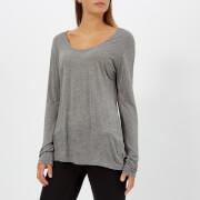 T by Alexander Wang Women's Drapey Jersey Long Sleeve T-Shirt with Darting Detail - Heather Grey - L - Grey