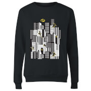 The Incredibles 2 Skyline Women's Sweatshirt - Black