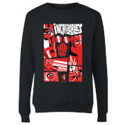 The Incredibles 2 Poster Women's Sweatshirt - Black