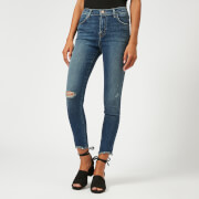 J Brand Women's Alana High Rise Skinny Cropped Jeans with Distress - Persuade