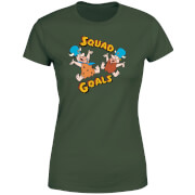 Familie Feuerstein Squad Goals Damen T-Shirt - Grün