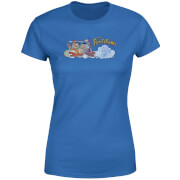 The Flintstones Family Car Distressed Women's T-Shirt - Royal Blue