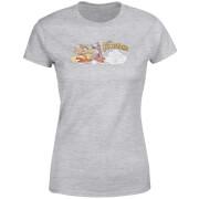 T-Shirt Femme La Famille Pierrafeu Voiture Familiale - Effet Abîmé - Gris