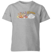 Familie Feuerstein Family Car Distressed Kinder T-Shirt - Grau
