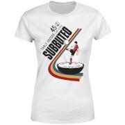 T-Shirt Femme Subbuteo TABLE SOCCER 45 - Blanc