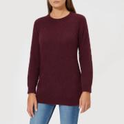 Barbour Heritage Women's Olivia Crew Neck Sweatshirt - Damson - UK 10 - Red