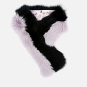 Charlotte Simone Women's Cuddle Cuff Scarf - Black/Lilac