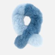 Charlotte Simone Women's Polly Pop Scarf - Sky Blue/Denim Blue