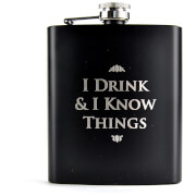 Game Of Thrones Hip Flask (I Drink And Know Things)