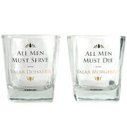 Game Of Thrones Glasses Set (All Men)