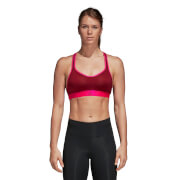 adidas Women's Stringer Racer Sports Bra - Maroon - XS - Red