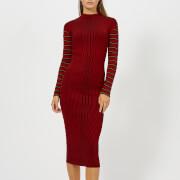 McQ Alexander McQueen Women's Rib Striped Dress - Red Clay - XS - Red