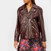 McQ Alexander McQueen Women's Zip Biker Jacket - Cherry - IT 40/UK 8 - Red