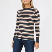 Maison Kitsuné Women's Long Sleeve Stripes T-Shirt - Multicolor Stripes - L - Multi