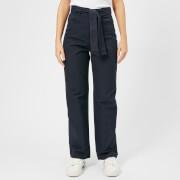 Maison Kitsuné Women's Canvas Sun Wide Leg Pants - Anthracite - FR 38/UK 10 - Grey