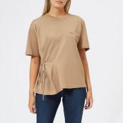 Maison Kitsuné Women's Draped T-Shirt - Camel - L - Camel