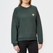Maison Kitsuné Women's Fox Head Patch Sweatshirt - Dark Green - L - Green