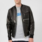 Dsquared2 Men's Lamb Leather Jacket - Black - 48/M - Black