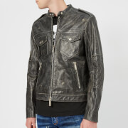 Dsquared2 Men's Calf Leather Jacket - Dark Grey - 48/M - Grey