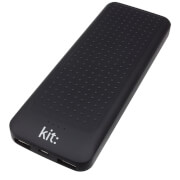 Kit 10000MAH Portable Powerbank with 2 USB Outlets for Android & Apple Smart Devices - Black