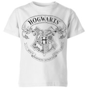 Harry Potter Hogwarts Crest Kinder T-Shirt - Weiß