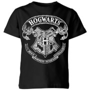 Harry Potter Hogwarts Crest Kids' T-Shirt - Black