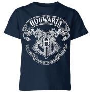 Harry Potter Hogwarts Crest Kids' T-Shirt - Navy