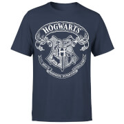 Harry Potter Hogwarts Crest Herren T-Shirt - Navy Blau