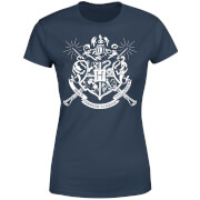 Harry Potter Hogwarts House Crest Damen T-Shirt - Navy Blau