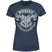 Harry Potter Hogwarts Crest Damen T-Shirt - Navy Blau