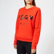 MSGM Women's Graffiti Logo Sweatshirt - Red - L - Red