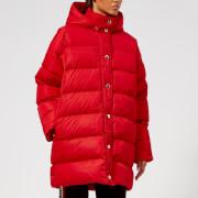 MSGM Women's Logo Hood Coat - Red - IT 38/UK 6 - Red