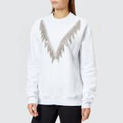 MSGM Women's Crystal Detail Sweatshirt - White - L - White