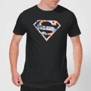 DC Originals Floral Superman Mens T-Shirt - Black - 3XL - Black