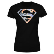 DC Originals Floral Superman Womens T-Shirt - Black - 3XL - Black