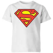 DC Originals Official Superman Shield Kids' T-Shirt - White
