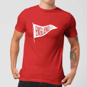 england pennant men's t-shirt - red - s - red