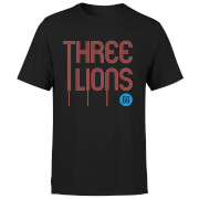 Three Lions Men's T-Shirt - Black
