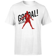 T-Shirt Homme Goal Machine Football - Blanc