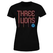 T-Shirt Femme Three Lions Football - Noir