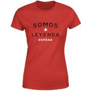 T-Shirt Femme Somos Leyenda Football - Rouge