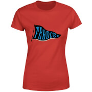 T-Shirt Femme Fanion Équipe De France Football - Rouge