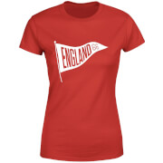 T-Shirt Femme Fanion Anglais Football - Rouge