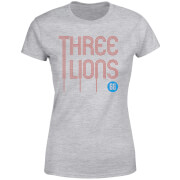 T-Shirt Femme Three Lions Football - Gris