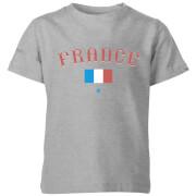 T-Shirt Enfant Équipe de France et Drapeau Football - Gris