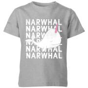 My Little Rascal Narwhal Kids' T-Shirt - Grey
