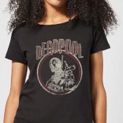 Marvel Deadpool Vintage Circle Women's T-Shirt - Black - XXL - Black