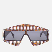 Gucci Women's Studded Diamante Sunglasses - Havana/Grey