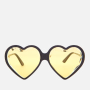 Gucci Women's Acetate Heart Sunglasses - Black/Yellow